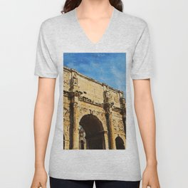 Rome - The Arch of Constantine Unisex V-Neck