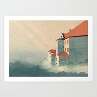 castle in the sky Art Prints featuring Castle in the Sky by Schwebewesen • Romina Lutz
