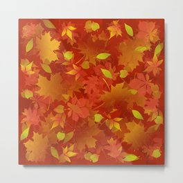 Autumn Leaves Carpet Metal Print
