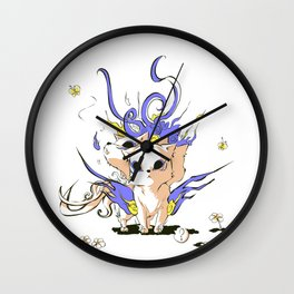 Little Cerberus in Okami style Wall Clock