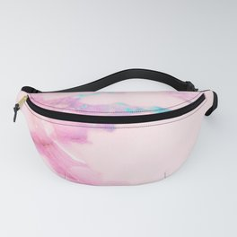 Pink Iridescent Vein Marble Fanny Pack