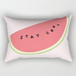 Stay Cool Watermelon Rectangular Pillow