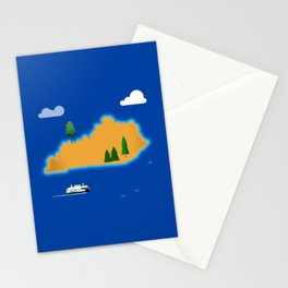 Kentucky Island Stationery Cards