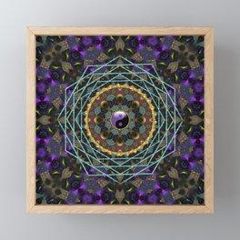 Purple Yin Yang Sacred Geometry Fractals Framed Mini Art Print