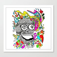 The Candy Skull Canvas Print