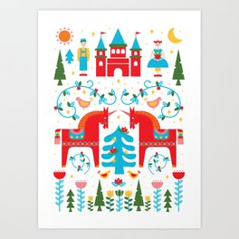 Scandinavian Inspired Fairytale - Bright Art Print