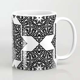 Celtic Knot Ornament Pattern Black and White Coffee Mug