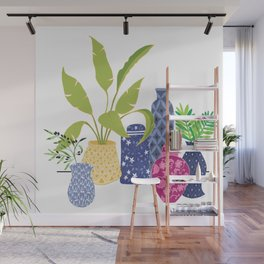 Chinoiserie Vases Wall Mural