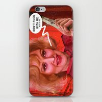 jessica lange iPhone & iPod Skins featuring Don't fuck with the Lange by Sabuchan