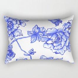 Chinoiserie Floral Rectangular Pillow