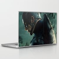 steve rogers Laptop & iPad Skins featuring Steve Rogers 006 by TheTreasure