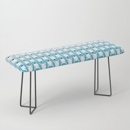 small gridlock duffle blue gradient Bench