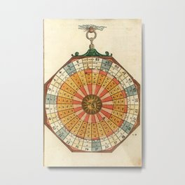 Peter Apian - Astronomicum Caesareum 1540 - Plate 31 Solar Cycles, Dominical Letters and Leap Years Metal Print