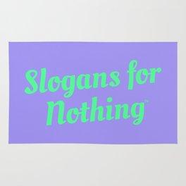 Bright Green Slogans Rug