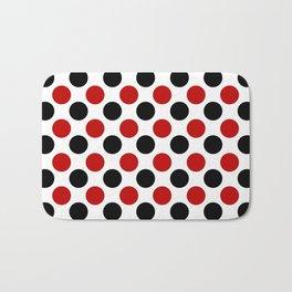 RED BLACK CIRCLE Bath Mat