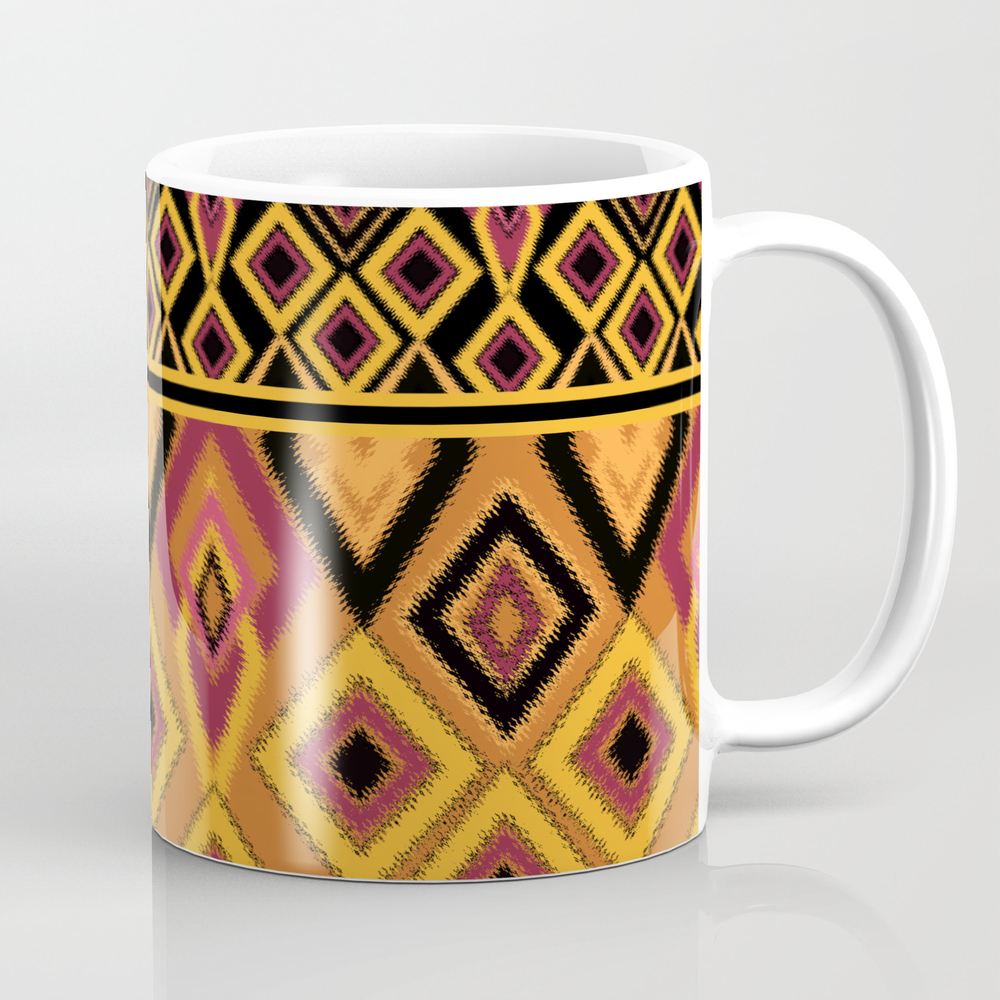 Yellow Plaid. The Creative Pattern . Coffee Cup by Fuzzyfox85 MUG8035028