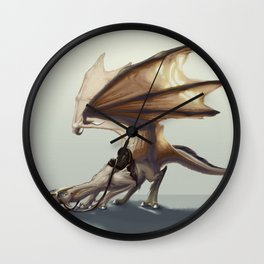 Camel Dragon Concept Art Wall Clock