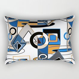 Abstract pattern with bold geometric shapes . Rectangular Pillow