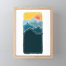 Mountain sunrise Framed Mini Art Print