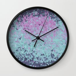 Blue, Teal, and Purple Wall Clock