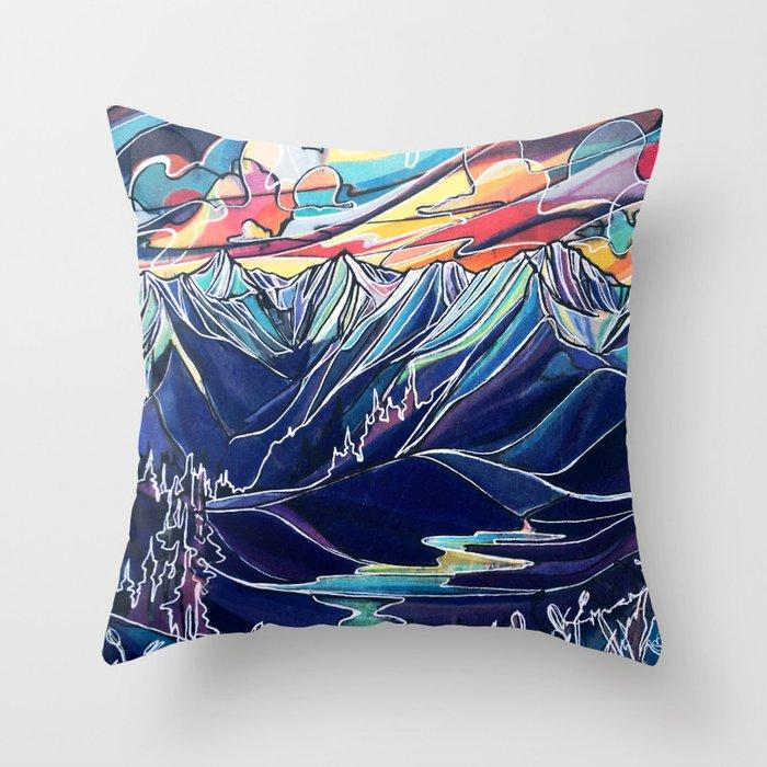 Silvercup Ridge, BC Throw Pillow