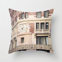 On New York Time Throw Pillow