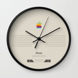 iPhone Macintosh retro design Wall Clock