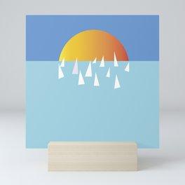 Sail school Mini Art Print