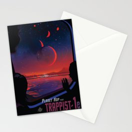NASA Retro Space Travel Poster #13 - TRAPPIST-1e Stationery Cards