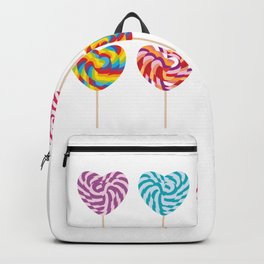 lollipops, colorful spiral candy cane with twisted design Backpack