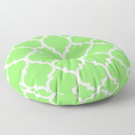 MOROCCAN LIME GREEN AND WHITE PATTERN Floor Pillow