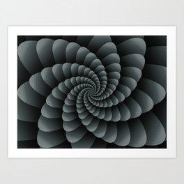 PPG Night Watch Pewter Green Nautical Swirl Digital Design - Nautilus Swirl Art Print