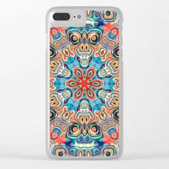 Abstract Tribal Mandala Clear iPhone Case