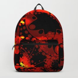 Red lace gold on a black background. Backpack