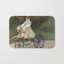 Jean Monet on his Hobby Horse 1872 by Claude Monet Bath Mat