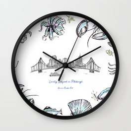 Lovely Seafood in Pittsburgh Wall Clock