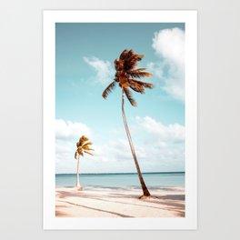 Dominican Republic Palm Beach Art Print