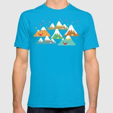 Mountain Friends Mens Fitted Tee Teal MEDIUM