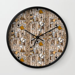 Books: Through the rabbit hole_Moka Wall Clock