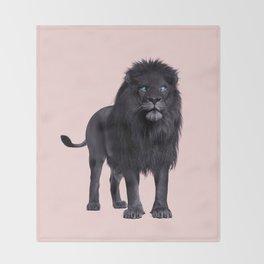 BLACK LION Throw Blanket