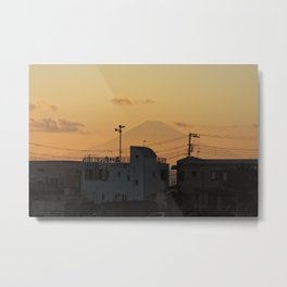 Mt. Fuji Sunset Metal Print