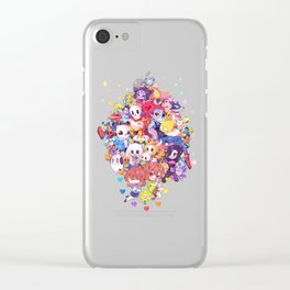 UNDERTALE MUCH CHARACTER Clear iPhone Case