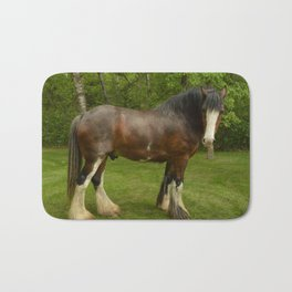 Clyde the Clydesdale Bath Mat