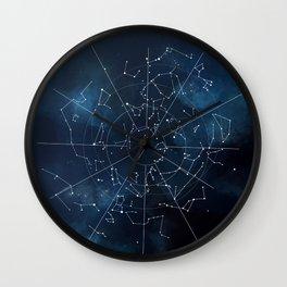 Celestial Map Wall Clock