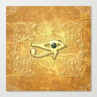 all seeing eye Canvas Prints featuring The all seeing eye by nicky2342