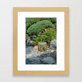 Japanese garden 7 Framed Art Print