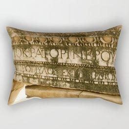 Greek Engravings Rectangular Pillow