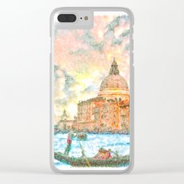 Venice - signed Clear iPhone Case