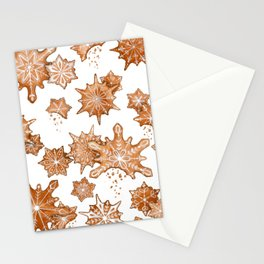 Gingerbread Cookie Blizzard Stationery Cards