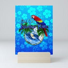 Blue Flowers Island Time Surf Mini Art Print
